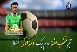 بهمن سالاری؛ بهترین مهاجم هفته دوم لیگ دسته اول