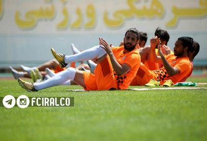 تمرینات تیم فوتبال آلومینیوم اراک بعد از ماه ها وقفه استارت خورد