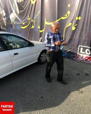 پدرعلیرضا منصوریان مهمان ویژه تمرین استقلال