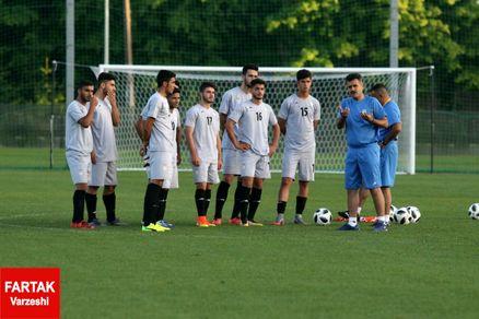 نخستین تمرین تیم ملی جوانان در کمپ اسپارتاک؛ چهارشنبه اولین بازى برابر روسیه