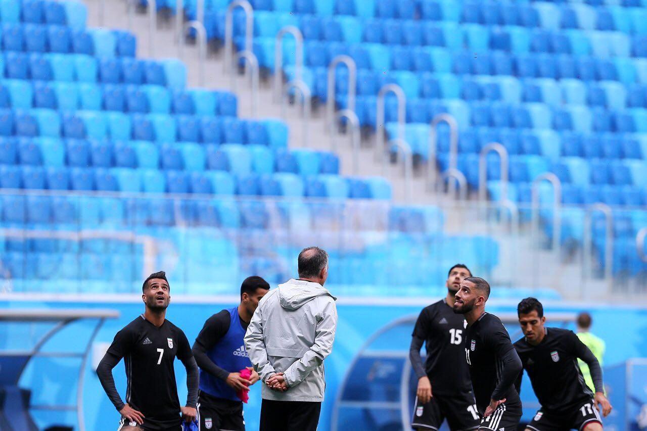 آخرین تمرین تیم ملی ایران برای دیدار مقابل مراکش