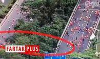 فیلم/تقلب صدها دونده در مسابقه ماراتن چین!