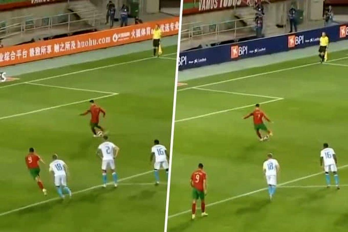 ستاره پرتغالی به کاپیتان یونایتد پنالتی یاد داد