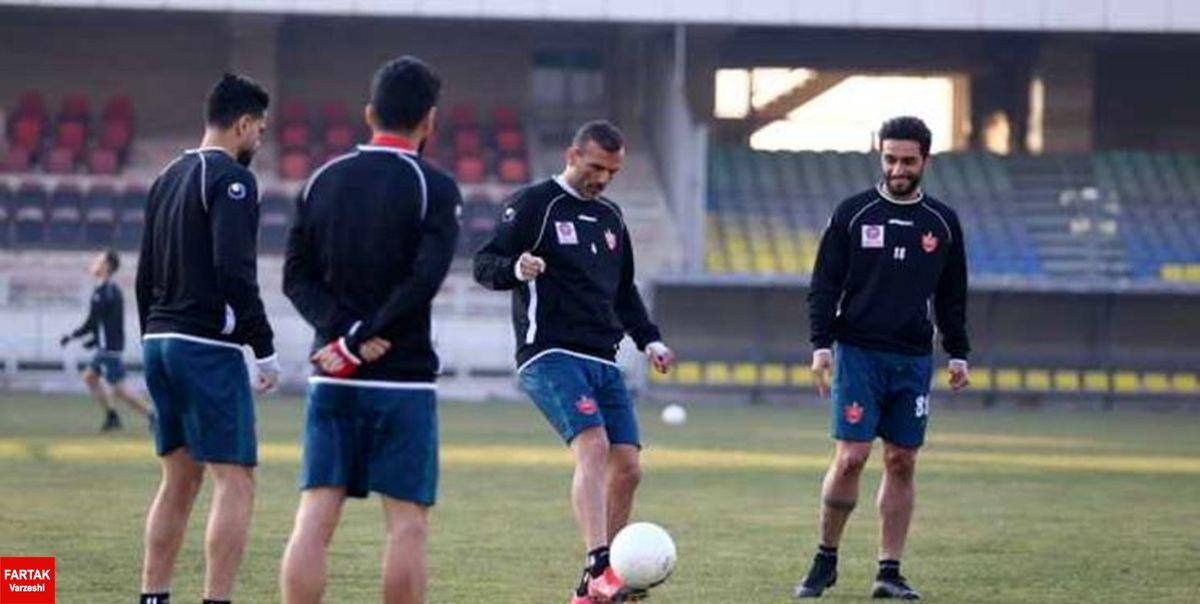 گزارش تمرین پرسپولیس  حضور مدیران باشگاه در ورزشگاه کاظمی