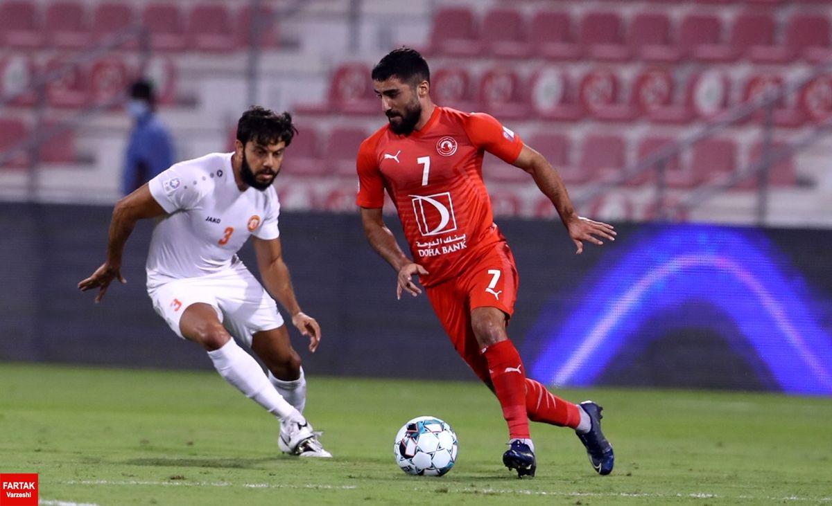 حضور محمدی در ترکیب العربی مقابل الوکره