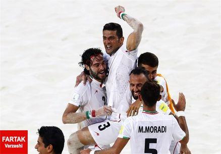 صعود تیم ملی فوتبال ساحلی به نیمه نهایی با پیروزی مقابل تاهیتی قطعی شد