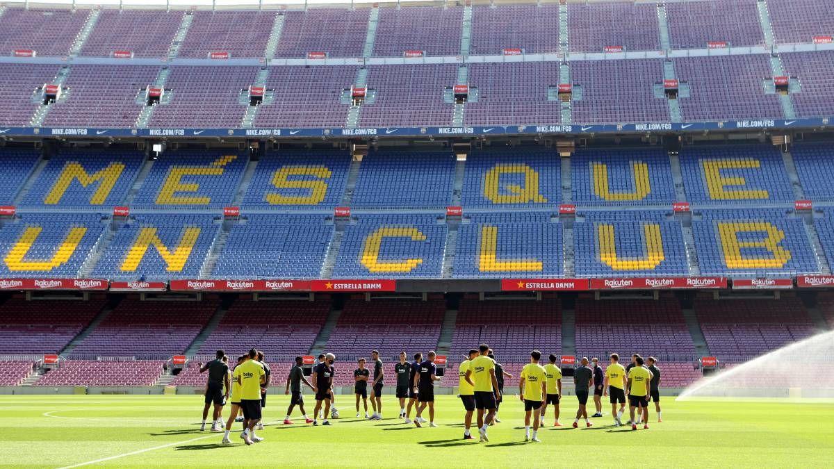 ترکیب اصلی بارسلونا برابر ناپولی لو رفت
