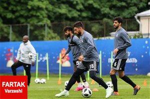 تمرینات ملی پوشان در فاصله یک روز مانده تا شروع جام جهانی