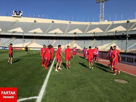 یکشنبه 25 شهریور/گزارش تمرین آخر سرخپوشان پیش از دیدار با حریف قطری