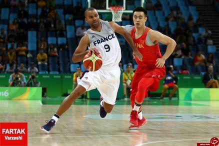 پیروزی تیم بسکتبال فرانسه برابر چین
