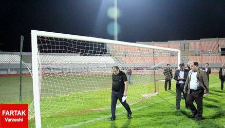 بازدید شبانه از استادیوم کرمانشاه برای میزبانی فینال جام حذفی