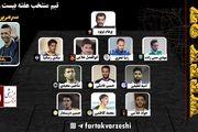 تیم منتخب هفته بیستم و هفتم لیگ دسته یک معرفی شد+پوستر