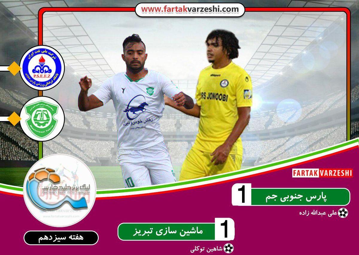 لیگ برتر فوتبال| جدال پارس جنوبی و ماشینسازی برنده نداشت