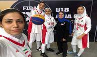 صعود دختران بسکتبالیست سه نفره به مرحله بعد
