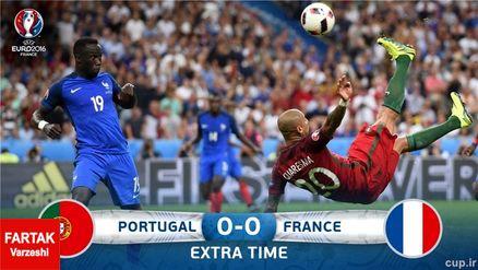 بازی پرتقال-فرانسه به وقت اضافه کشیده شد