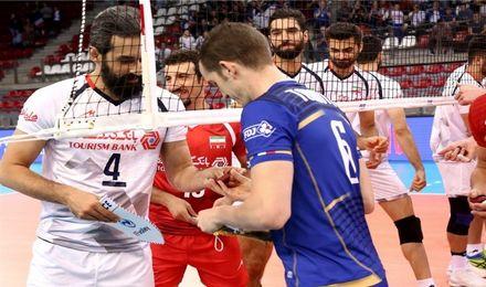 لیگ ملت های والیبال 2018  شکست ایران در اولین بازی مقابل میزبان