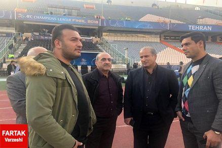 بازدید دوباره گرشاسبی و تاج از ورزشگاه آزادی