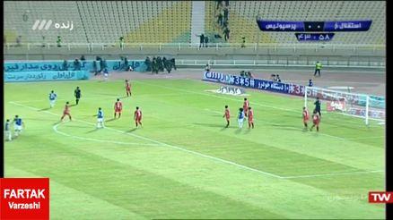 این بار صداگذاری به جای فتوشاپ/فیلمی چند ثانیه ای که در بازی پرسپولیس و استقلال خوزستان تأثیر گذاشت!