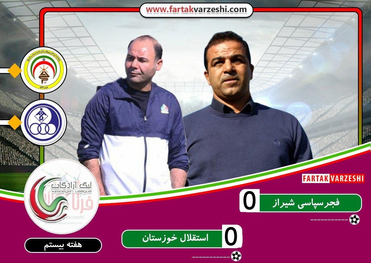 فجر سپاسی ۰-۰ استقلال خوزستان؛ناکامی های فجر ادامه دارد/سهراب دست پر به اهواز برگشت