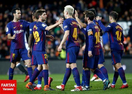 رکورد شکست ناپذیری بارسلونا به عدد 39 رسید