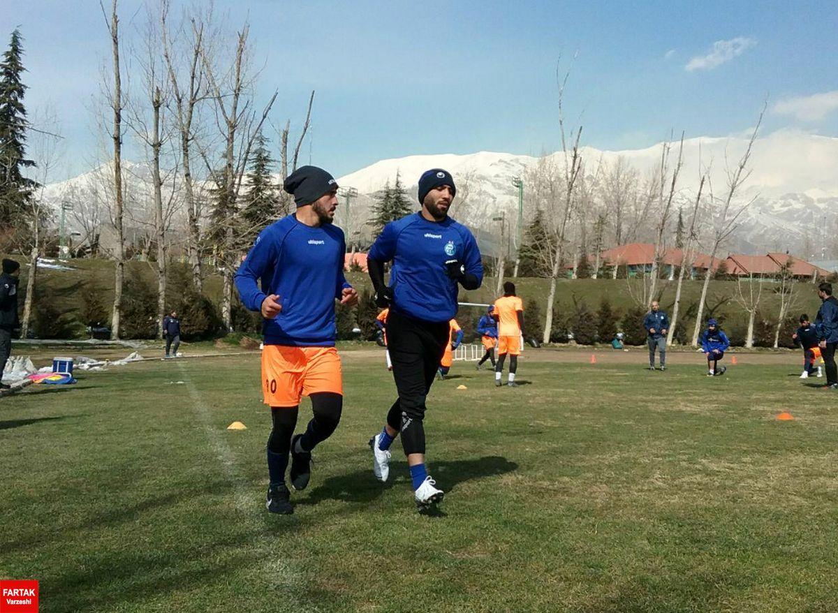 گزارش تمرین استقلالی ها در مجموعه ورزشی انقلاب