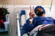 عمل جراحی موفق مدافع قشقایی شیراز (عکس)