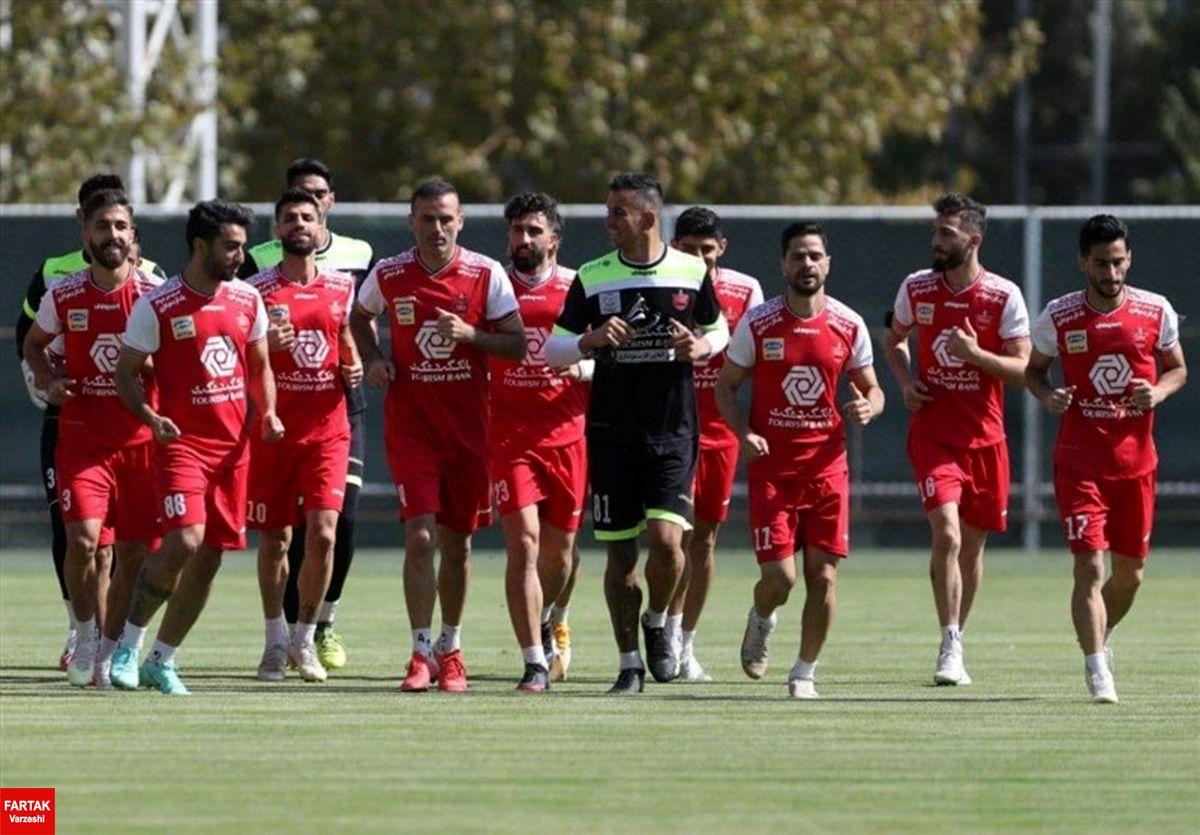 پرسپولیس به جای ریاض در تهران تمرین کرد