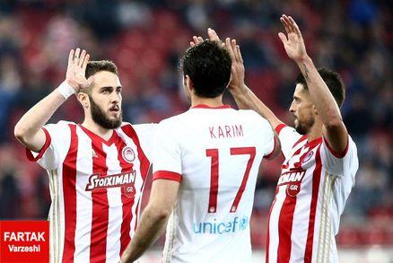 انصاری فرد،در صدر جدول برترین گلزنان سوپر لیگ یونان قرار گرفت