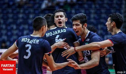 والیبالیست های جوانان ایران باز هم پیروز میدان شدند