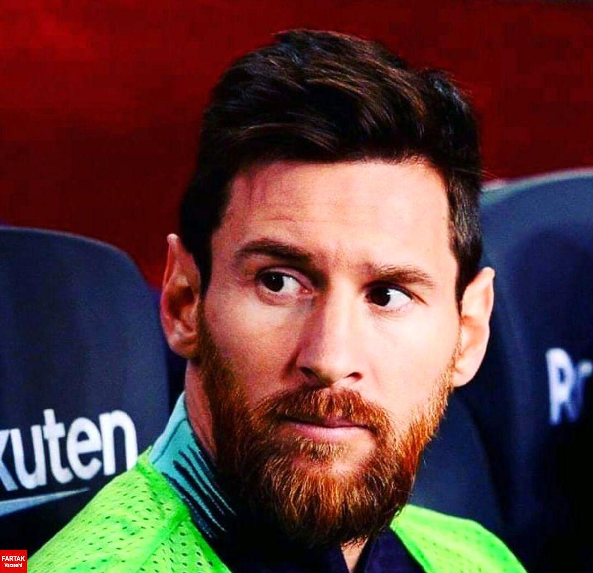 نیمکت نشینی غیرمنتظره مسی در بازی بارسلونا