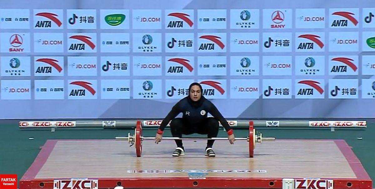 قهرمانی وزنهبرداری آسیا| یونسی در یکضرب ششم شد