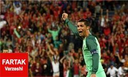 زمزمه های رونالدو پشت گوش پنالتی زن بازی پرتقال لهستان