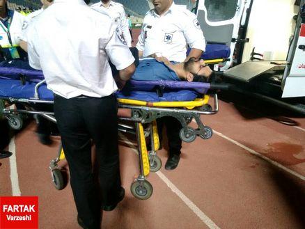 استرس بازی پرسپولیس و الجزیره، خبرنگار فرتاک ورزشی را راهی بیمارستان کرد