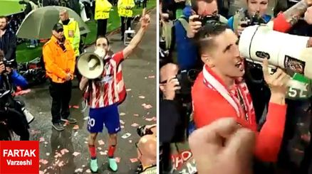 کنایه تورس و یارانش به رئال مادرید در جشن قهرمانی اتلتیکو