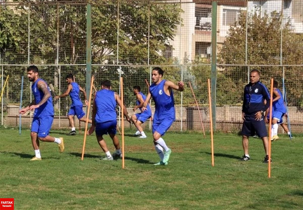 گزارش تمرین استقلال  بازگشت مدافع ملیپوش و غیبت ۲ بازیکن