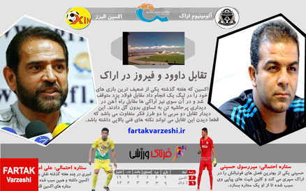 پیش بازی آلومینیوم اراک-اکسین البرز/ تقابل داوود و فیروز در اراک!