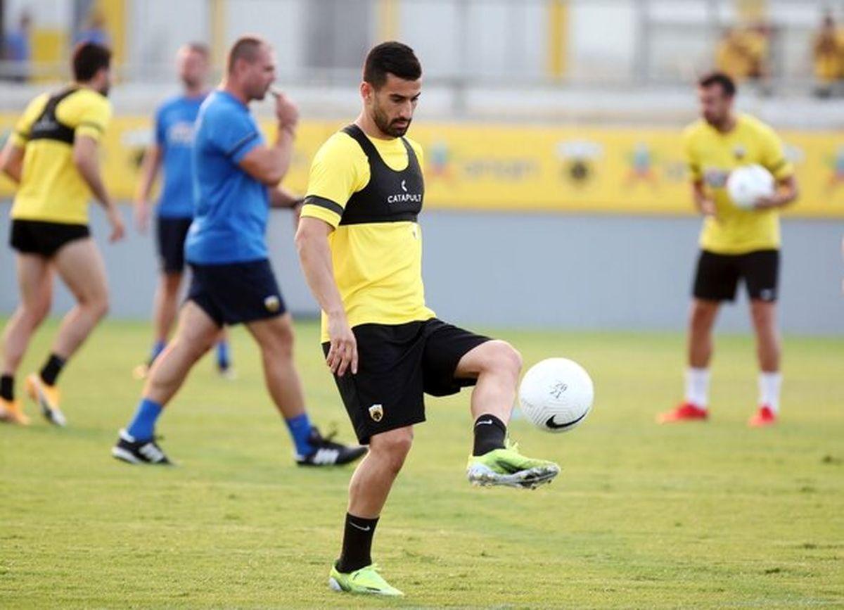 نخستین تمرین حاج صفی در تیم آ.اک یونان