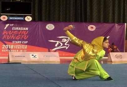 حرکات نمایشی فوق العاده ویانا رحمتیان و کسب مدال طلای مسابقات بین المللی ارمستان