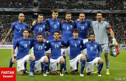 ترکیب رسمی ایتالیا مقابل آلمان