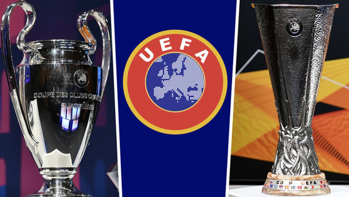 به تعلیق در آمدن ادامه مسابقات لیگ قهرمانان اروپا و لیگ اروپا