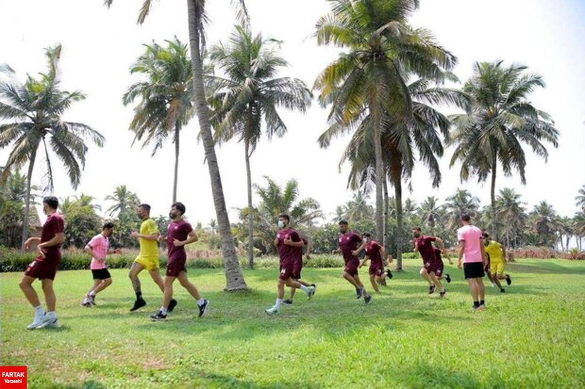 تمرین سبک پرسپولیس قبل از بازی با الوحده امارات