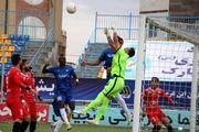 لیگ برتر فوتبال  پدیده و گلگهر با تساوی به رختکن رفتند