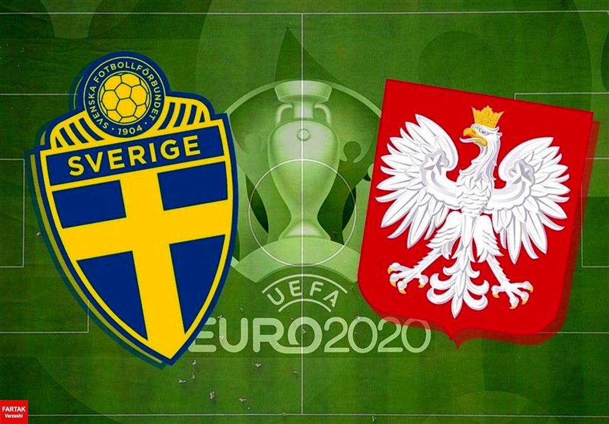 یورو ۲۰۲۰| ترکیب تیمهای ملی سوئد و لهستان اعلام شد