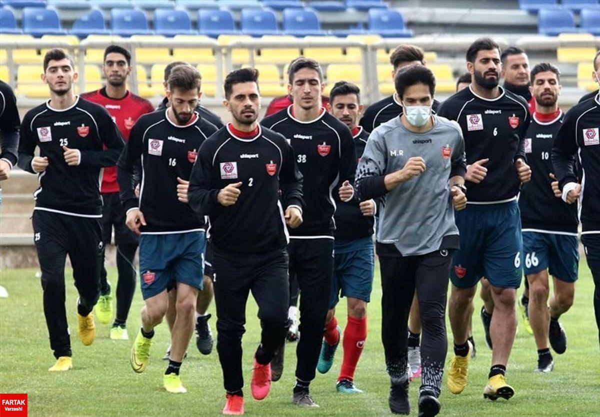 برگزاری تمرین بدون توپ پرسپولیس در روز بازگشت گلمحمدی