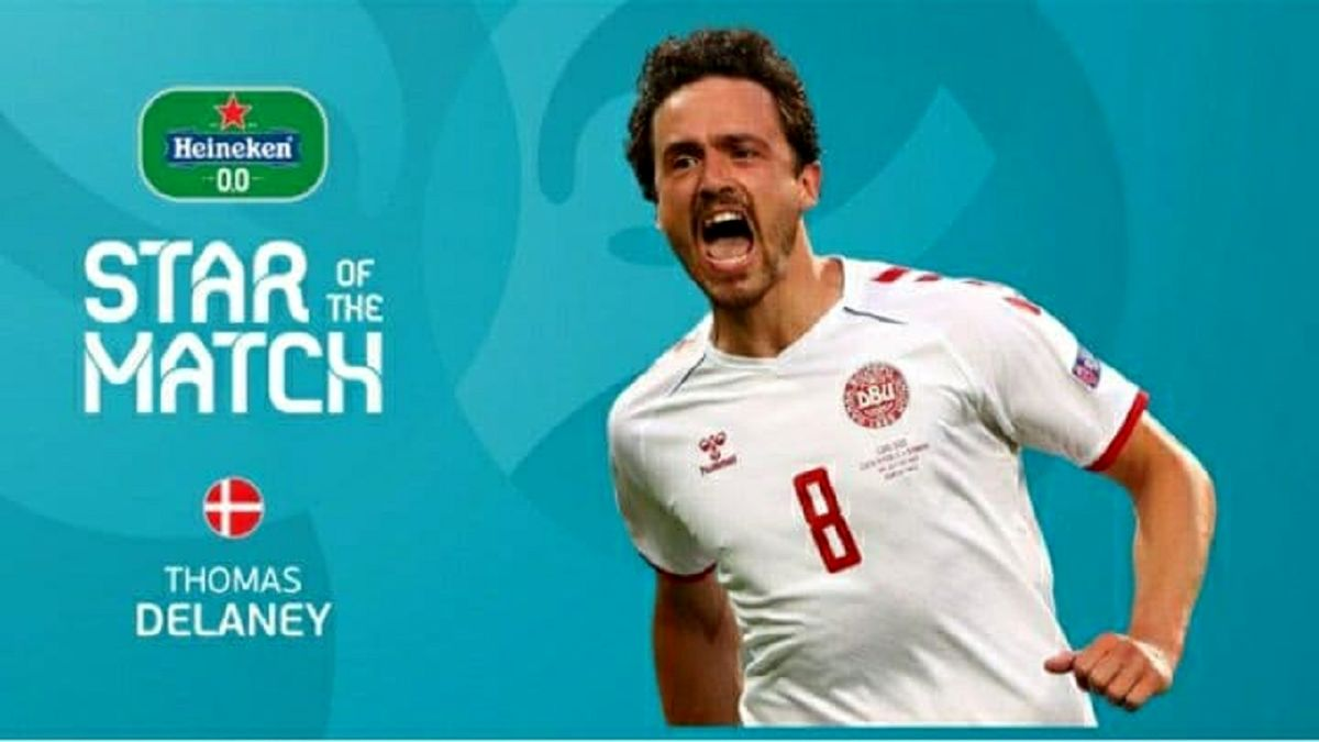 «دلینی» بهترین بازیکن دیدار دانمارک - جمهوری چک شد