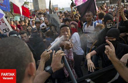 صحنه های زشت به هنگام ورود مشعل بازی ها به ریو