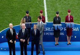 تصاویری دیدنی از مراسم اهدای مدال به تیم ملی بلژیک