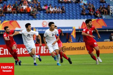 پایان نیمه اول| تیم ملی امید با شکست به رختکن رفت