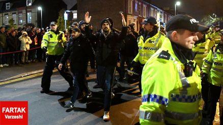 هواداران اغتشاشگر توسط پلیس دستگیر شدند