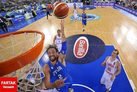بسکتبال ایتالیا پس از پیروزی بر تونس به مصاف کرواسی می رود